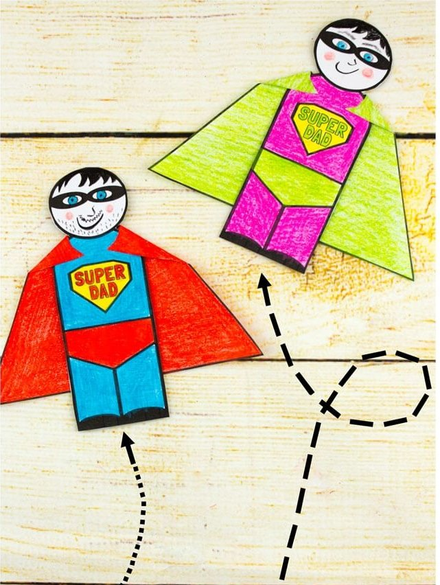super hero Father's Day Card ideas