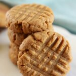stack of low carb peanut butter cookies