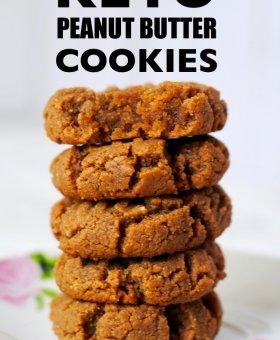 3-Ingredient Keto Peanut Butter Cookies (VIDEO)