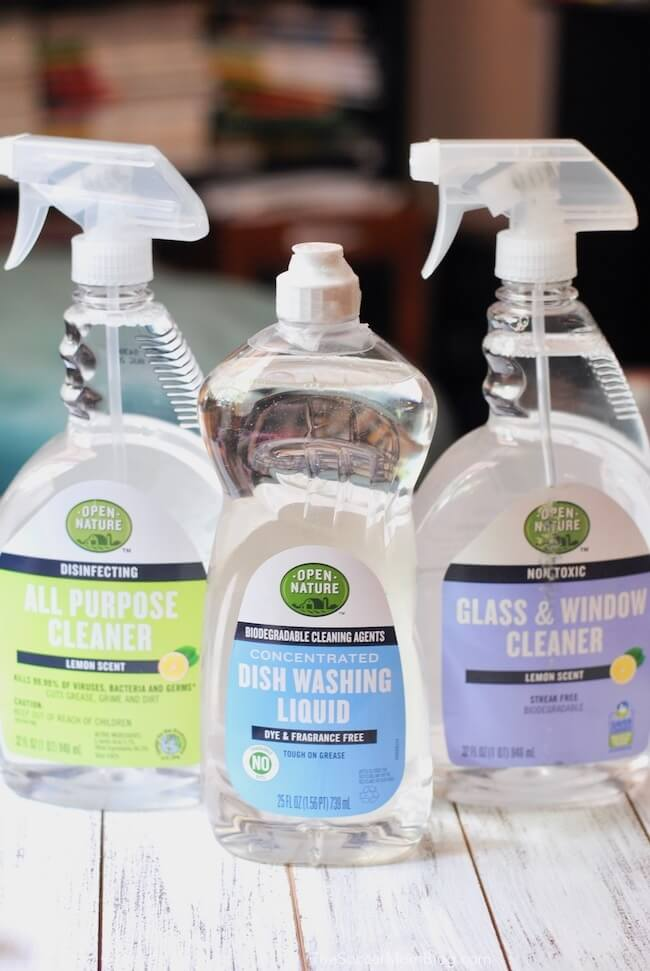 Open Nature household cleaning products safe for your family and home