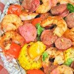 cajun shrimp and sausage foil packet
