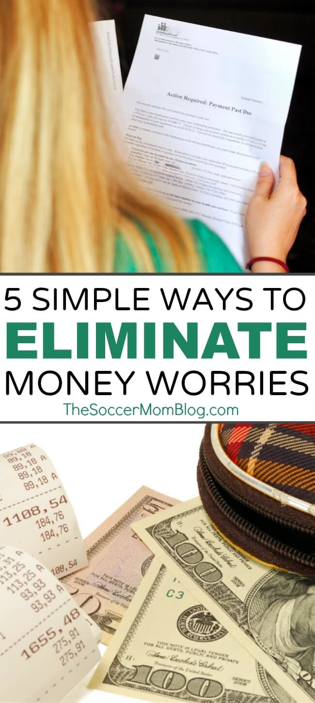 Don't let financial stress run your life! These 5 simple steps will help you stop worrying about money and start living!