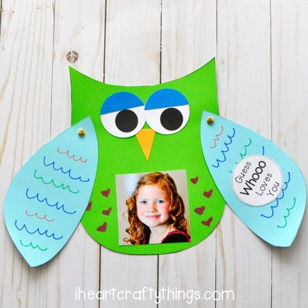 owl fathers day card idea