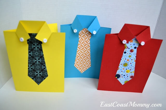 shirt and tie card for Father's Day