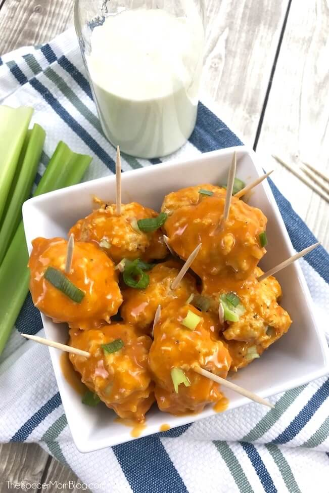 They sound too good to be true, but these Keto Buffalo Chicken Meatballs only have 1g carbs each! Perfect for low carb, paleo, and ketogenic diets!