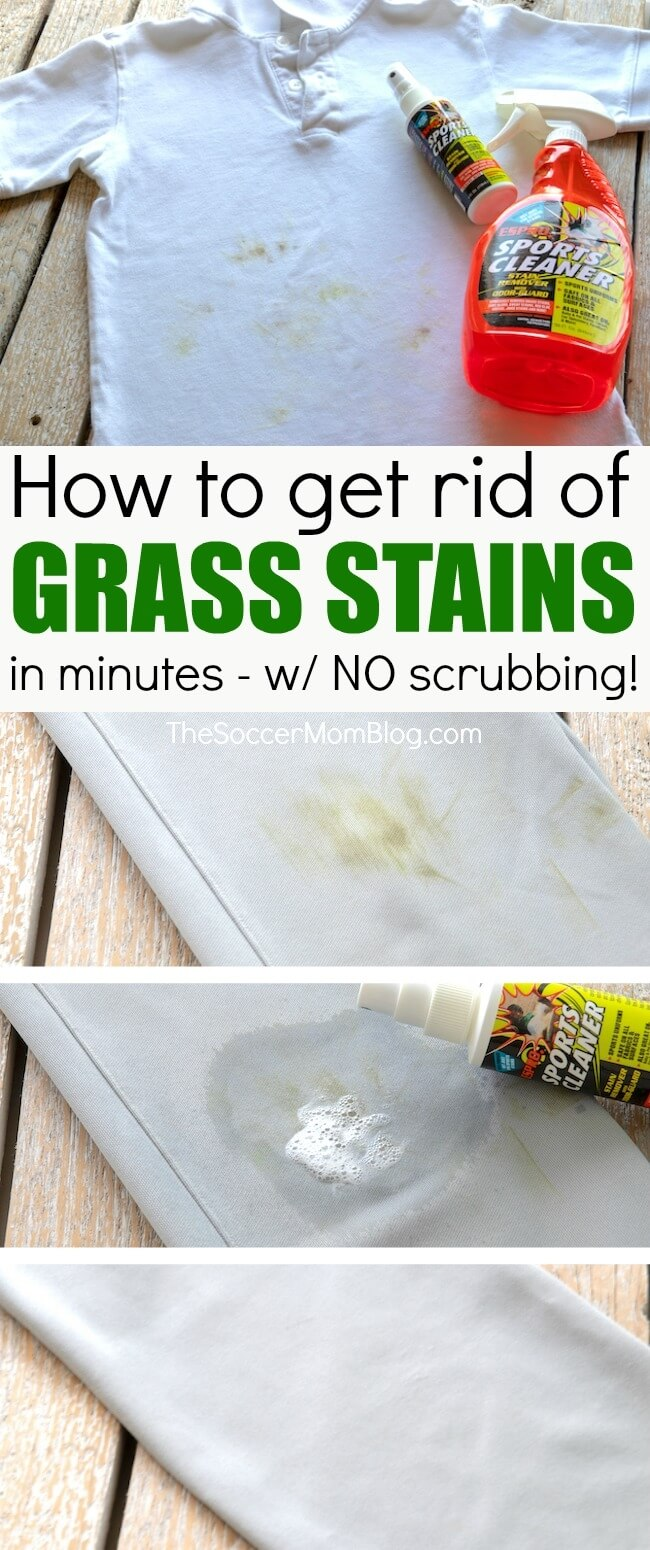 How to easily, safely, and effectively remove grass stains from kids clothes without dangerous chemicals and without heavy scrubbing!
