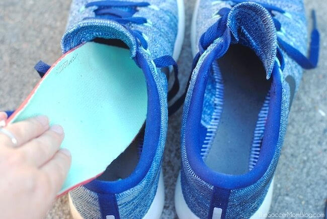 removing factory insoles from athletic shoes