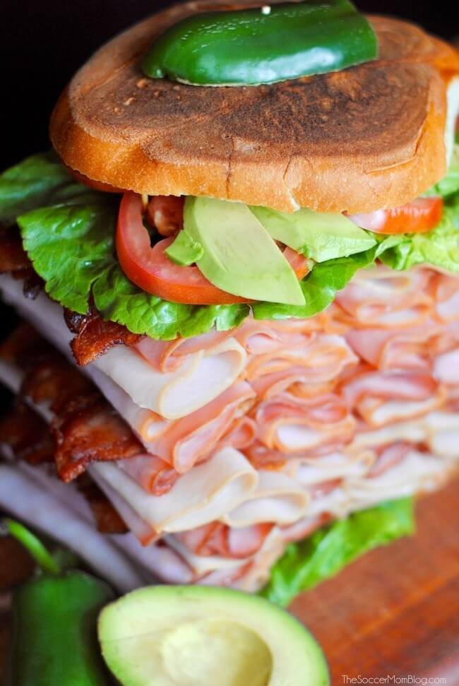 "Now THIS is a sandwich! ""El Gigante"" is a true hero when it comes to busting hunger...or your classic Mexican ham torta cravings!"