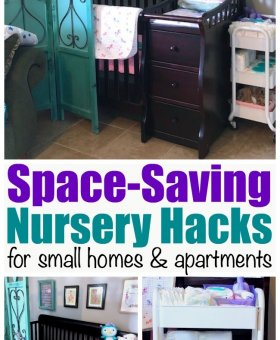 Small Space Nursery Hacks (with Video Tour)