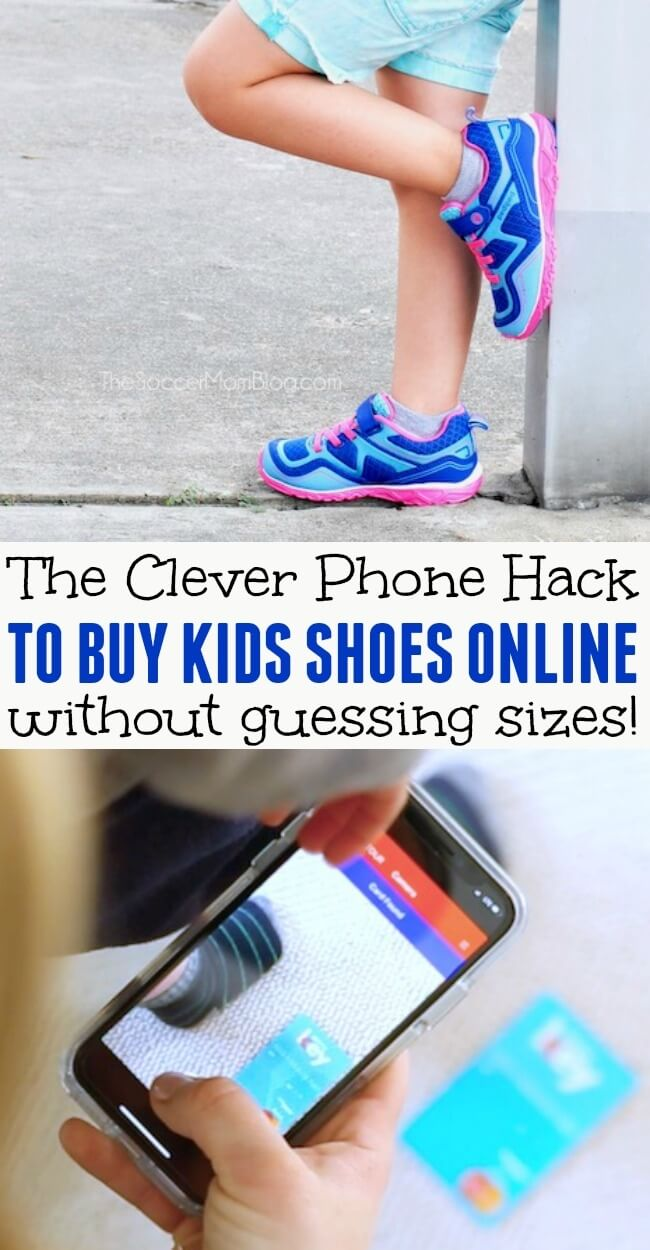 Take all the guesswork out of online shopping! This is my secret to buy kids shoes online that fit perfectly every single time.