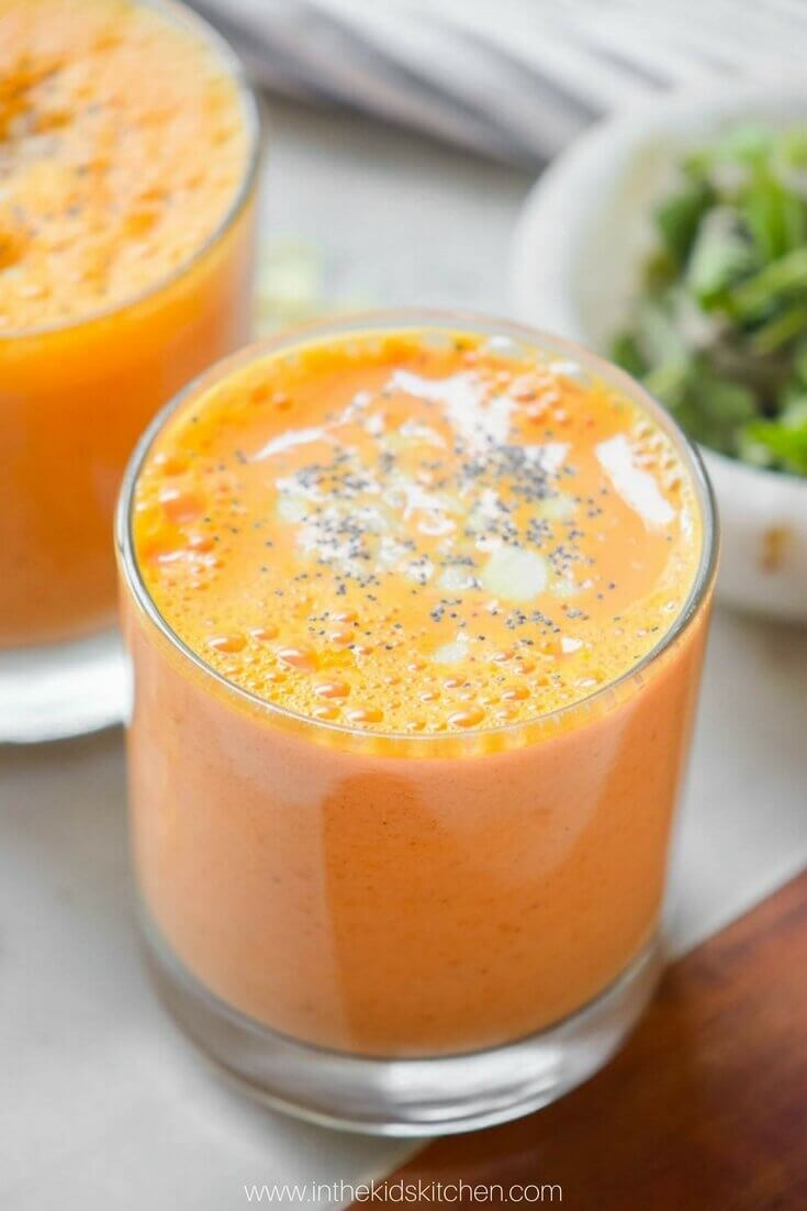 orange tropical fruit smoothie