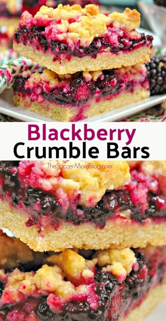 Blackberry Pie Bars are just like the classic summer treat, in a fabulous hand-held form!