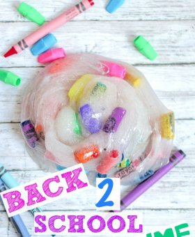Back to School Slime with Glue and Crayons