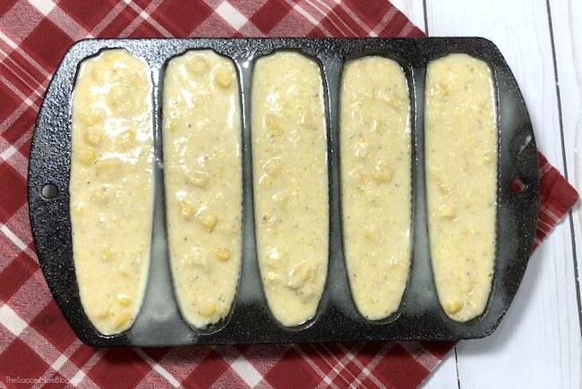 making mini corncob shaped muffins