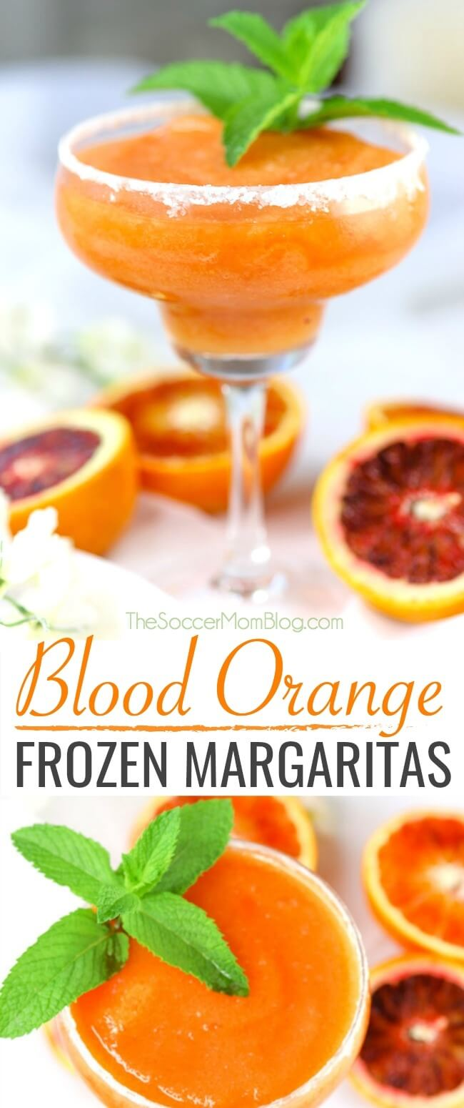 These vibrant Frozen Blood Orange Margaritas are one of the most beautiful cocktails ever!
