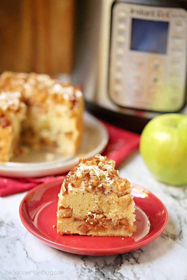 Moist and delicious Instant Pot Apple Cake