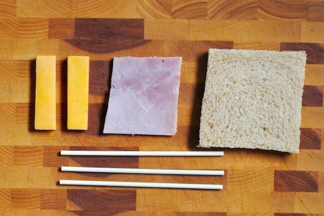 How to make sandwich lollipops for kids school lunch