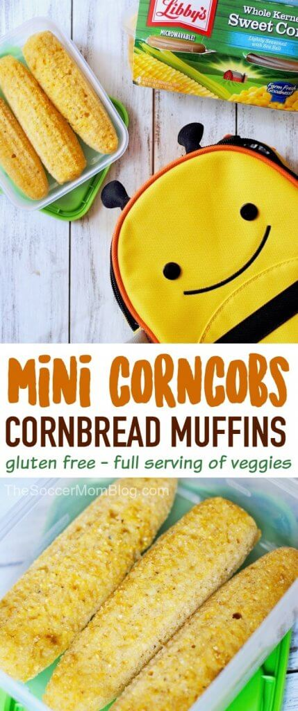 These gluten free cornbread lunchbox muffins couldn't be easier to make! Simply stir and bake! A full serving of veggies in every batch.
