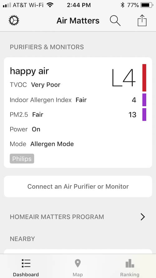Air Matter app screenshot