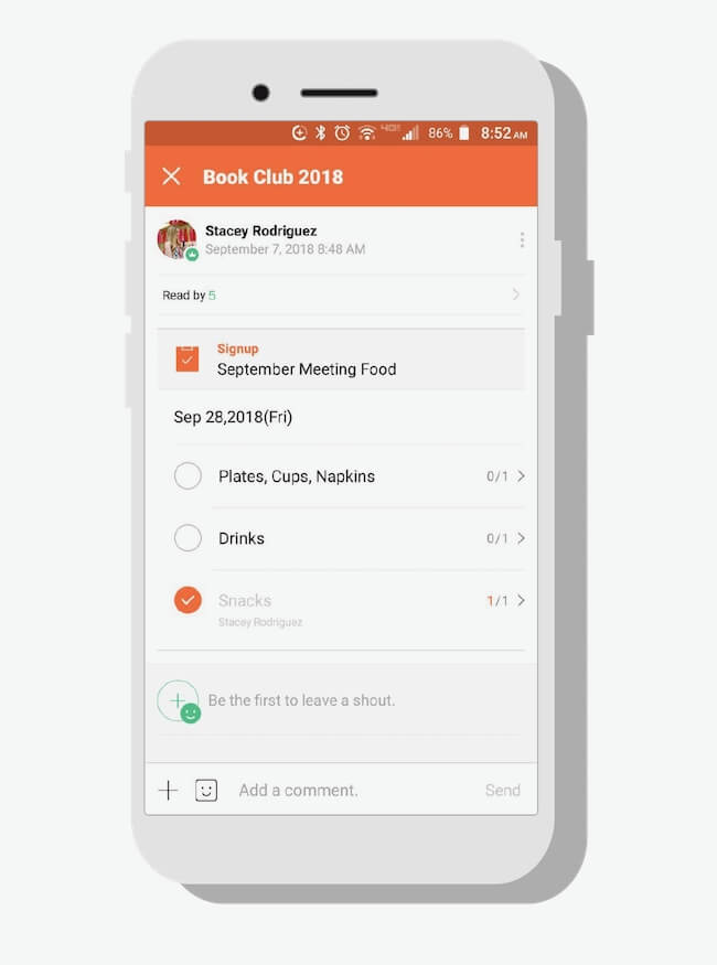 Create polls and to-do lists with BAND