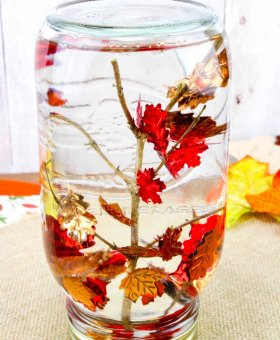 Falling Leaves Sensory Bottle Fall Kids Craft