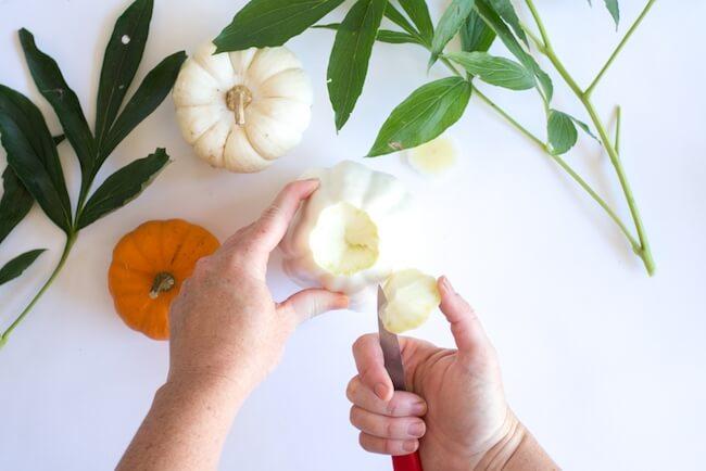 how to carve a pumpkin vase