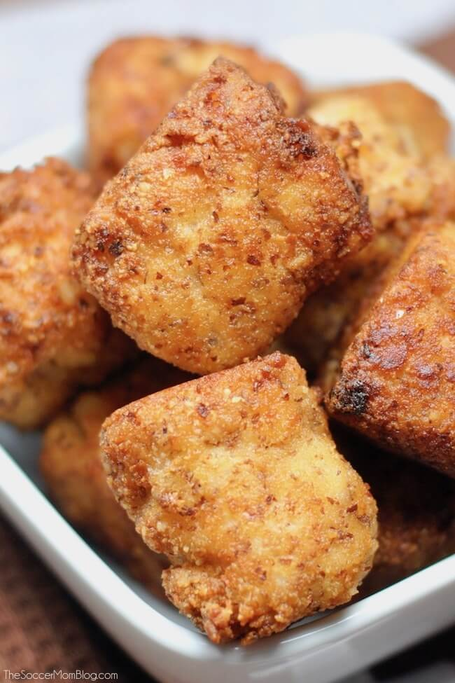 Who says tailgate food can't be healthy too? ThesecrispyBuffalo Chicken Keto Cauliflower Tots are guilt-free and totally crave-able!