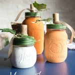 These DIY Painted Mason Jar Pumpkins are gorgeous country chic fall decor and so easy to make! You'll use them year after year!