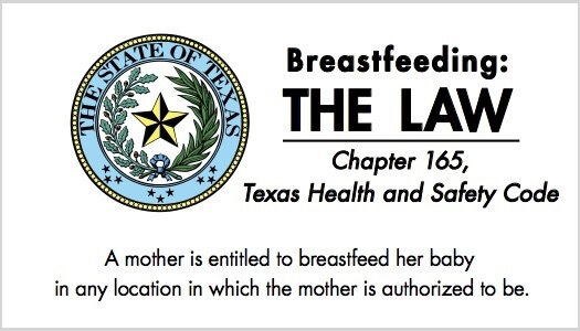 breastfeeding in public law in Texas