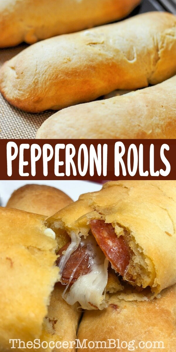 West Virginia Pepperoni Rolls are the perfect portable food! Warm, flaky, and stuffed with spicy pepperoni and cheese. You've got to try them to see why they're famous here!