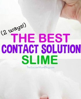 How to Make Slime with Contact Solution – 2 ways!