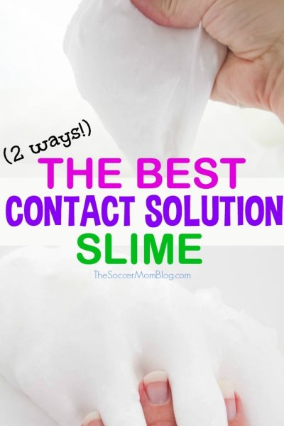 How to Make Slime with Contact Solution (2 ways)