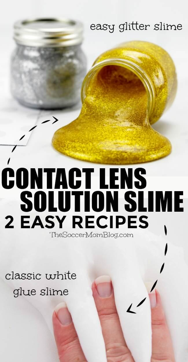 How to make slime with contact solution - 2 fun and easy contact solution slime recipes for making slime without borax powder, plus a video tutorial!