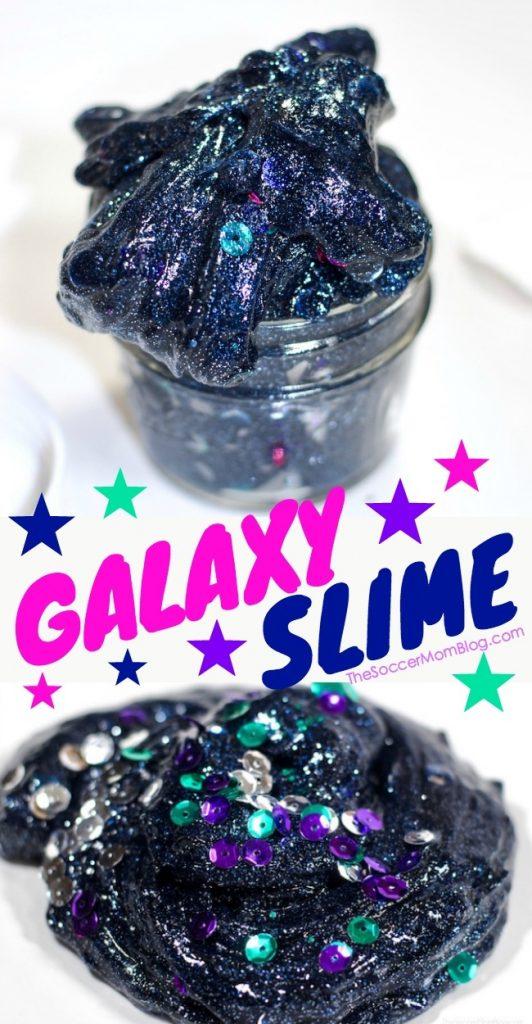 Glitter Galaxy Space Slime - it glows in the dark!