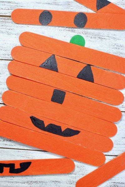 Mix and Match Pumpkin Faces Craft