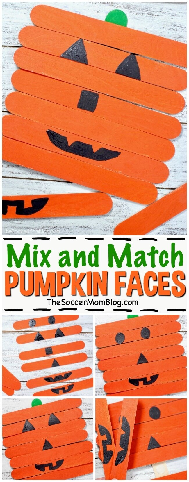 Kids will have a blast making lots of funny pumpkin faces with this easy Halloween craft! CLICK FOR VIDEO TUTORIAL & DIRECTIONS