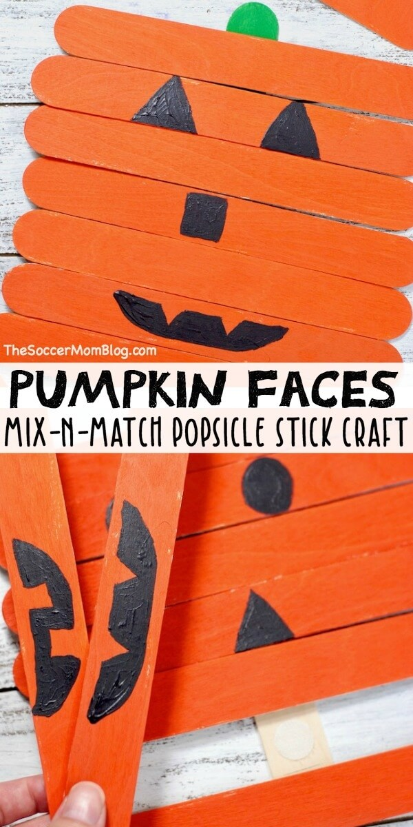 pumpkin popsicle stick craft