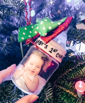 Baby Bottle Ornament – Baby's First Christmas Ornament