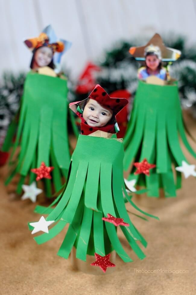 Christmas Tree Craft.Cardboard Tube Christmas Tree Craft The Soccer Mom Blog