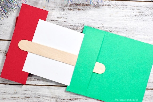 How to make a pop-up card that looks like a Christmas present