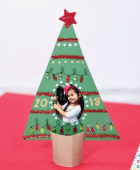 Kid-Made Christmas Tree Picture Frame