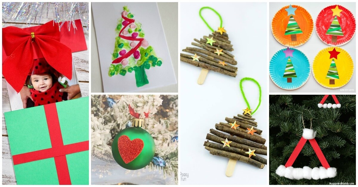 Christmas For All Ages.100 Easy Christmas Crafts For Kids The Soccer Mom Blog