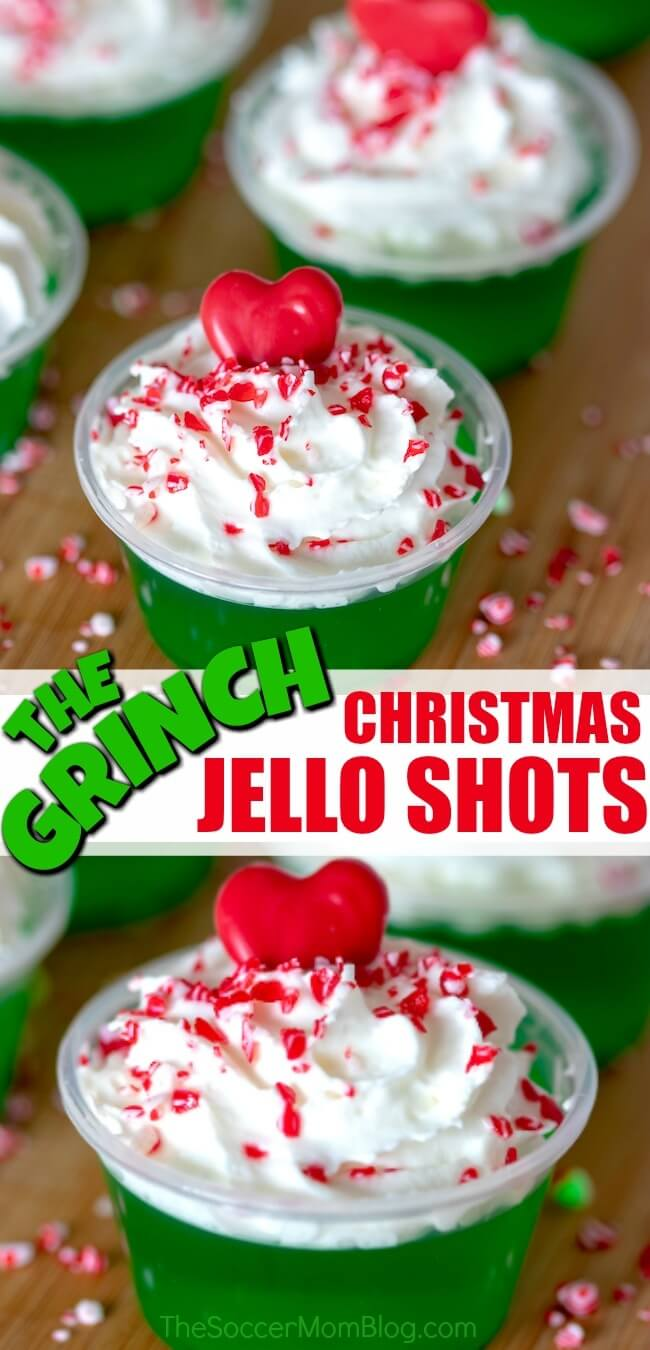 Grinch Jello shots are easy, fun, and festive