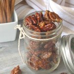 These healthy candied pecans are the perfect combination of sweet, savory, and crunchy! Plus they only take minutes to make!