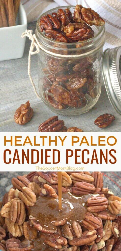 These healthy paleo candied pecans are the perfect combination of sweet, savory, and crunchy! Plus they only take minutes to make!