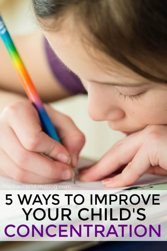Homework doesn't have to be a daily struggle! These 5 tricks to improve your child's concentration will help make your after school routine a breeze!