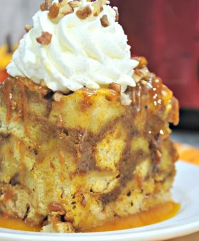 Crockpot French Toast Casserole {Pumpkin Spice Edition}
