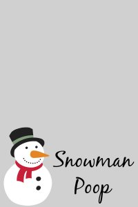 Snowman Poop free printable labels
