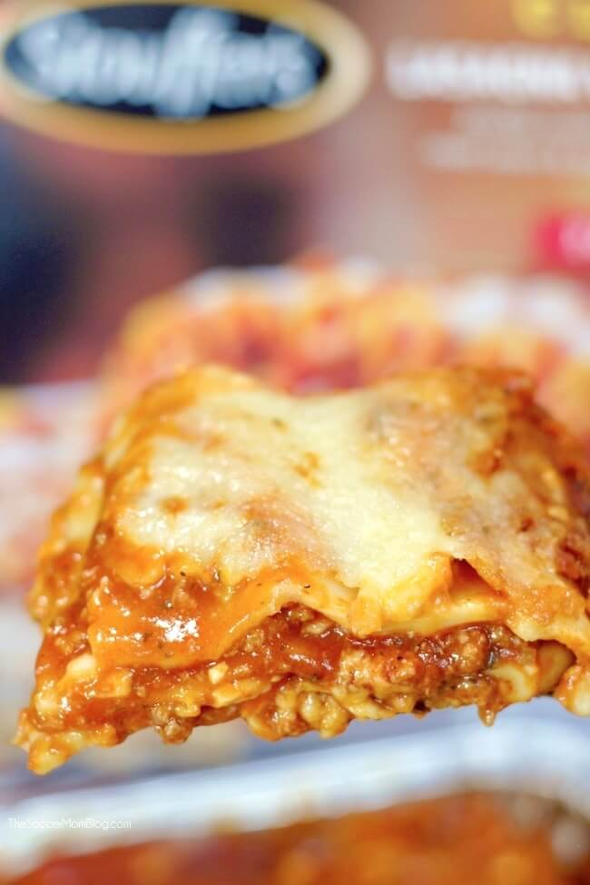 close up of slice of STOUFFER'S lasagna