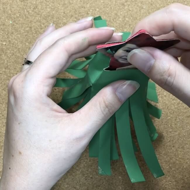 Cardboard tube Christmas trees kids craft